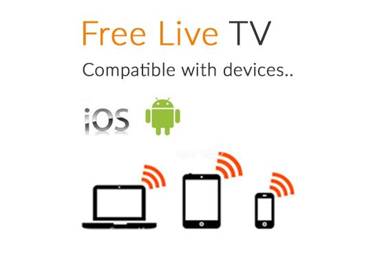 Free Live TV Compatible with Android and iOS devices