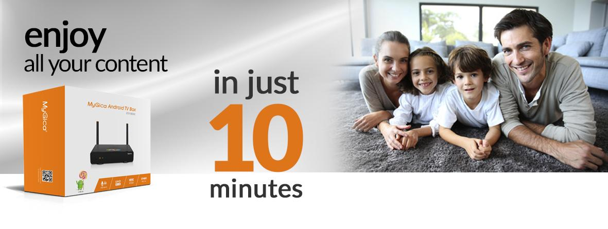 Enjoy all your content in just 10 minutes
