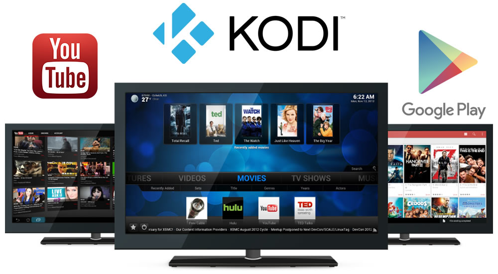 Kodi, YouTube, Netflix, Google Play Movies y mucho mas